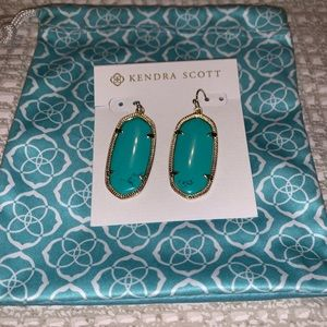 Kendra Scott    Gold and Turquoise Earrings